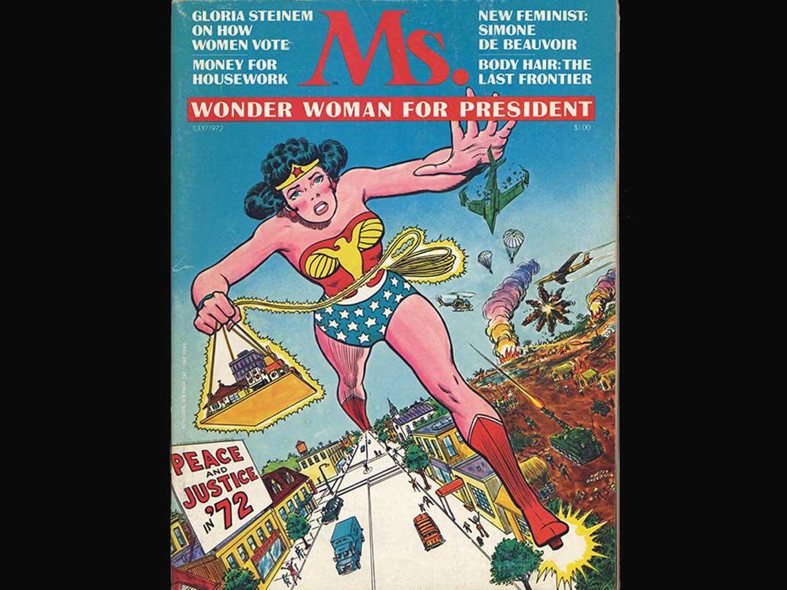 Portada con Wonder Woman de Ms. Magazine