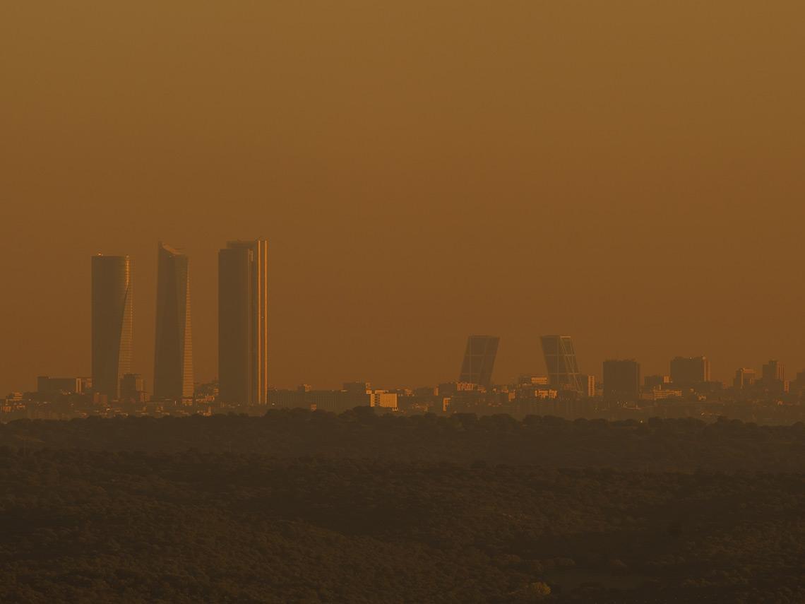 Panorámica de Madrid con contaminación