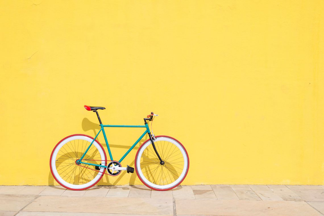 bike with yellow background