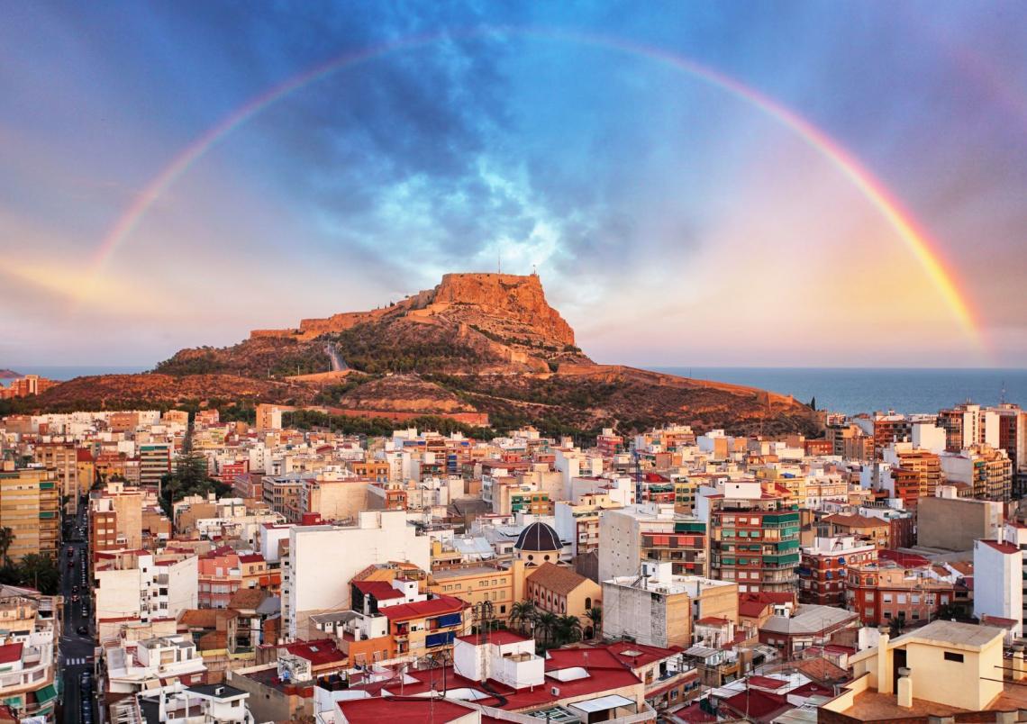 Rainbow over Alicante